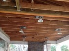 exterior ceiling before & after
